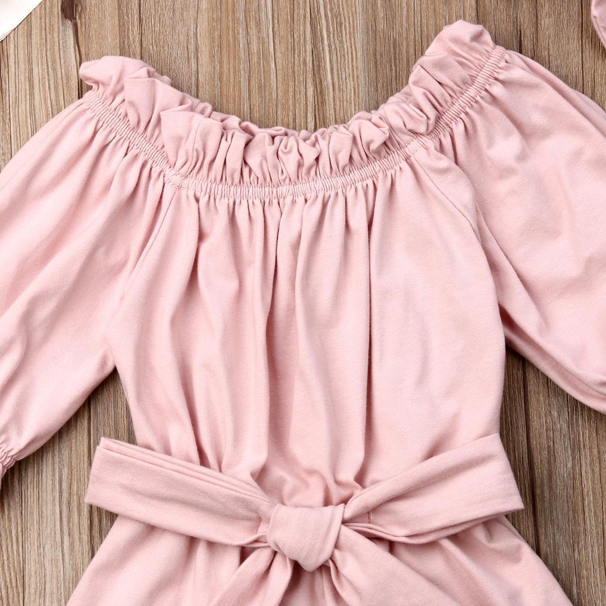 Nouveau-né Enfants bébé fille Vêtements Hauts Romper + Bandeau Enfants solides Casual Sunsuit Set Outfit