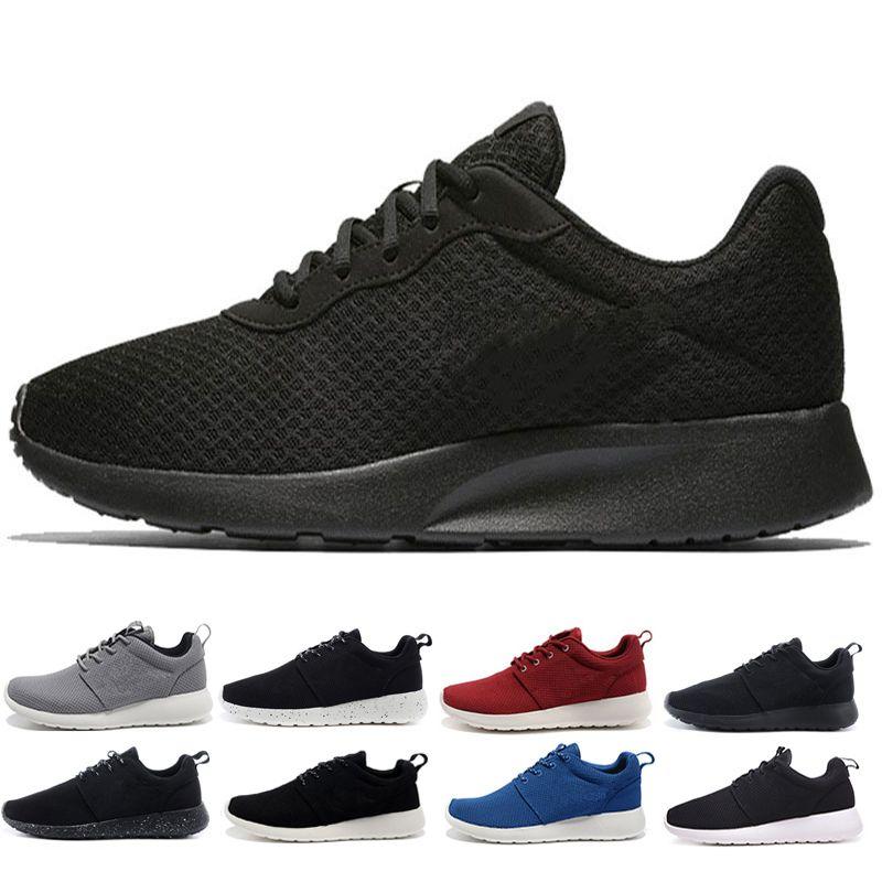 detailed look cdfb4 ceb3c Compre Classic Run Shoes Tanjun Negro Blanco Para Mujer Hombre Zapatos Para  Correr London Olympic Runs Al Aire Libre Para Hombre Deporte Zapato  Entrenador ...