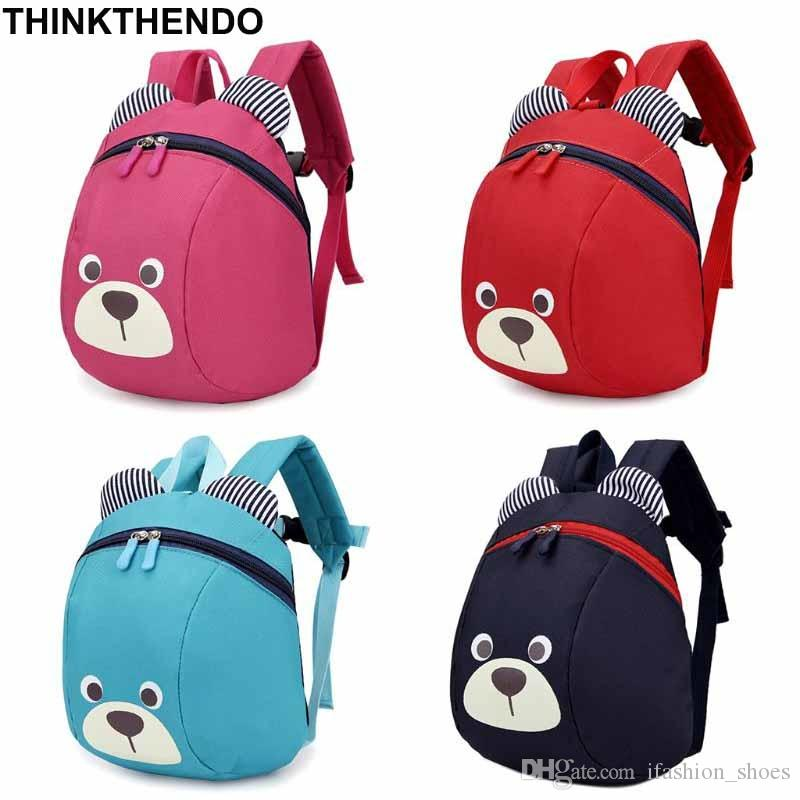 187016b56f8f Cute Bear Small Toddler Backpack With Leash Children Kids Backpack Bag For Boy  Girl  31185 Rucksack Backpack Boys Backpacks From Ifashion shoes