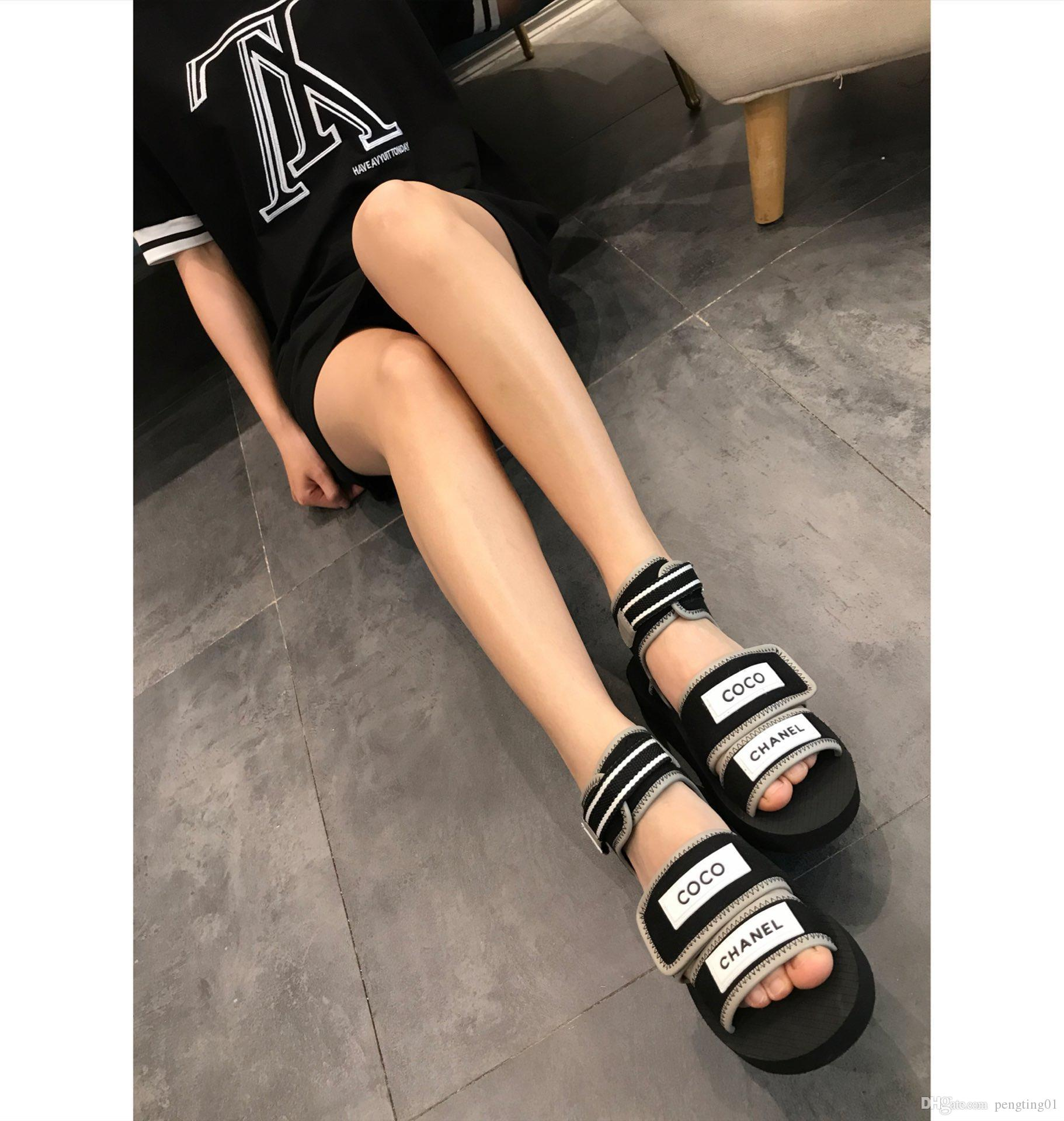 b393d9367b942 The Latest Luxury Women'S Fashion Leather Sandals Eye Catching Gladiator  Style Designer Leather Outsole Perfect Flat Canvas Salt Water Sandals  Bridesmaid ...