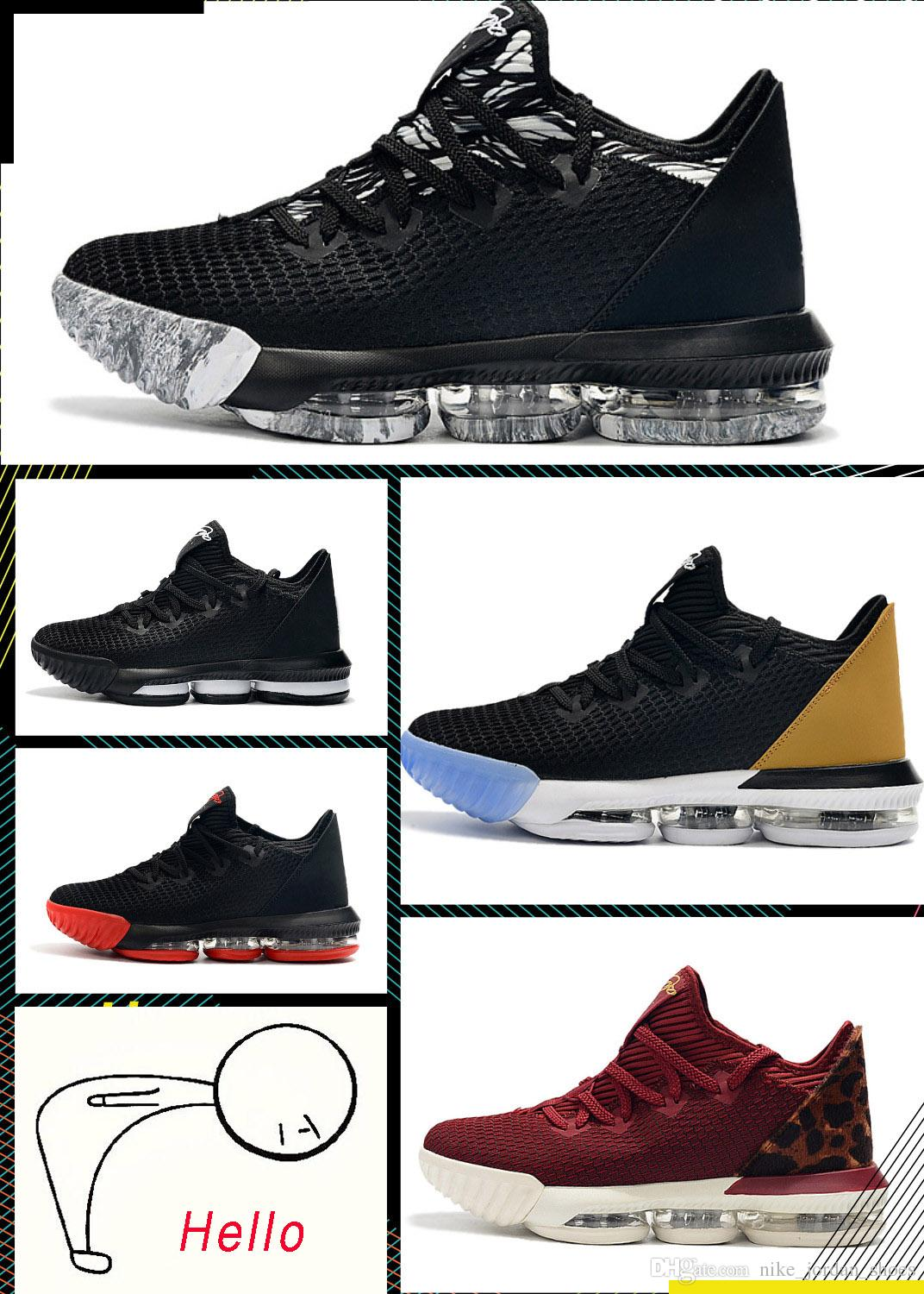best loved 4f05b b30d6 2019 Newest Lebron 16 Low Soundtrack King Black Multicolor White Team Red  Men Basketball Shoes Fashion James 16 Mens Athletic Sports Shoes From ...