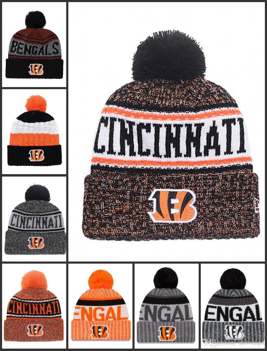 5f6dbffe Wholesale Cincinnati Sport Winter Hats Bengals Stitched Team Logo Brand  Warm Men Women Hot Sale Knitted Caps Cheap Mixed Beanies