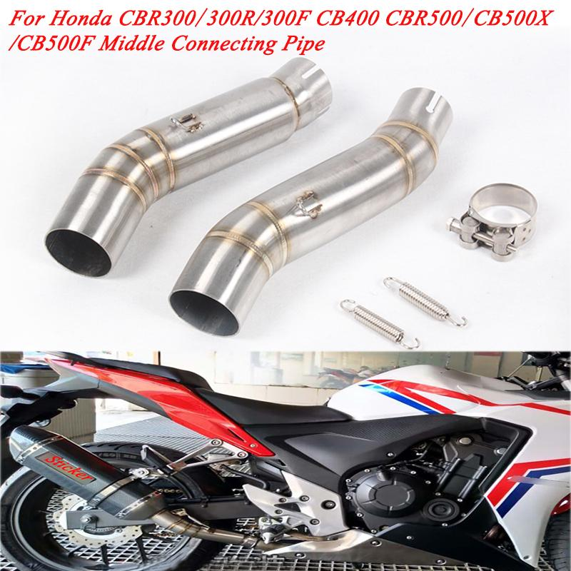Mid Connecting Pipe For Honda CBR500R CB500X CB500F Motorcycle Exhaust Muffler