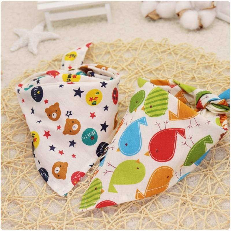 Cartoon Pattern Child Mouth Towel Cotton Pet Tie Baby Bib Cotton Triangular Scarf More Color Antifouling Dog Design 1 19dmC1