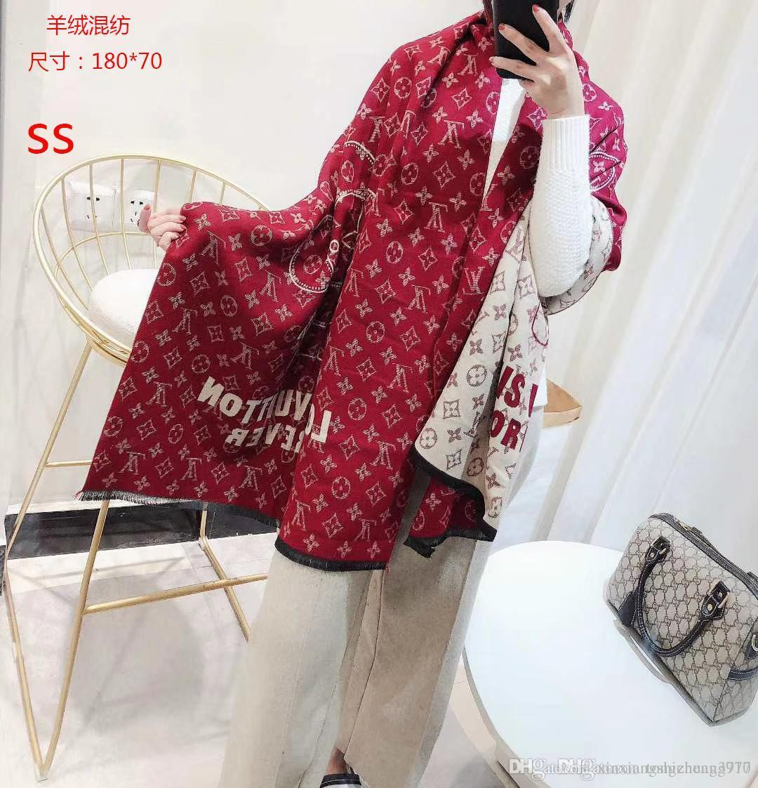 New women s fashion autumn long scarf pink with colorful patterns printed  linen soft warm_AAAAA3