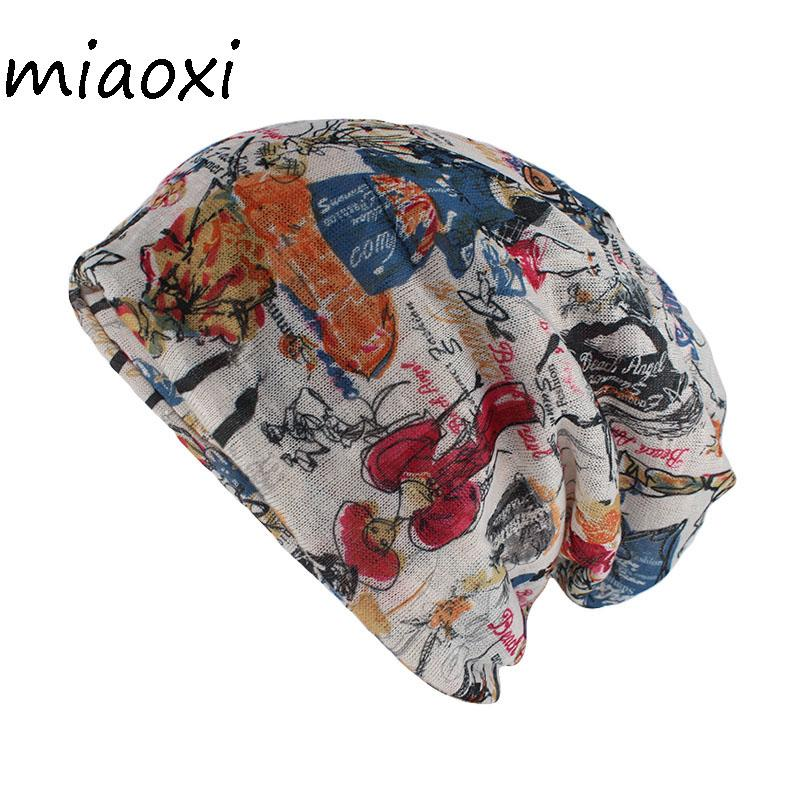 3cb56892c5b Miaoxi New Style Floral Women Hat Fashion Summer Rayon Beauty Beanies  Skullies Adult Girl S Gorros Double Used Hats Scarf Sale Beanies For Men  Trucker Caps ...