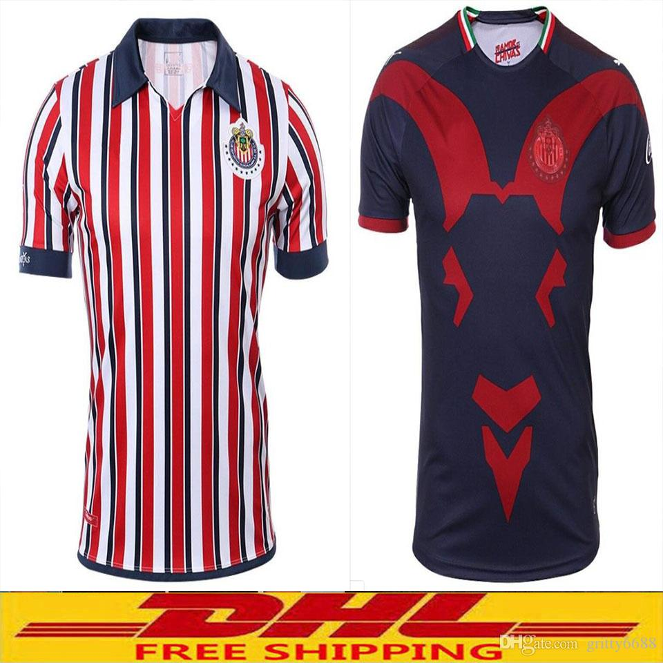 new concept bfdc1 b210c DHL Free shipping 2018 2019 Chivas Soccer Jersey 2018 Chivas jersey 18 19  Size can be mixed batch