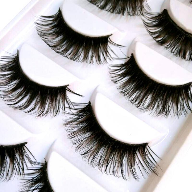 False Eyelashes Responsible Black 1 Pair False Eyelashes Bushy Cross Natural Handmade Mink Hair Eye Lashes Extension Makeup Cosmetic Women For Party