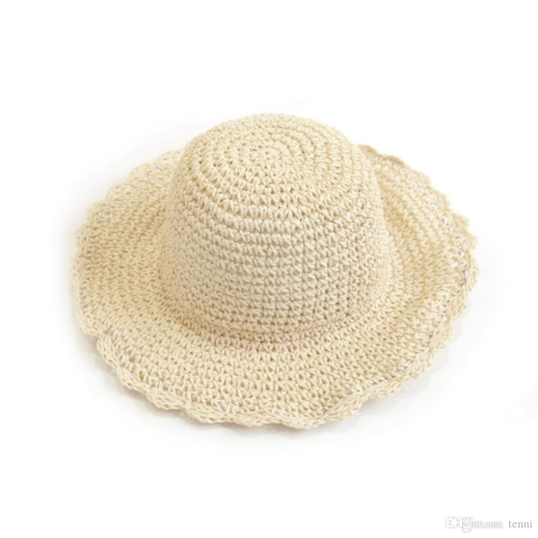New Hot Women S Hand Woven Large Hat Outdoor Leisure Sun Hat Sun Beach Straw  Fishing Hats Funny Hats From Tenni 984cc826dad