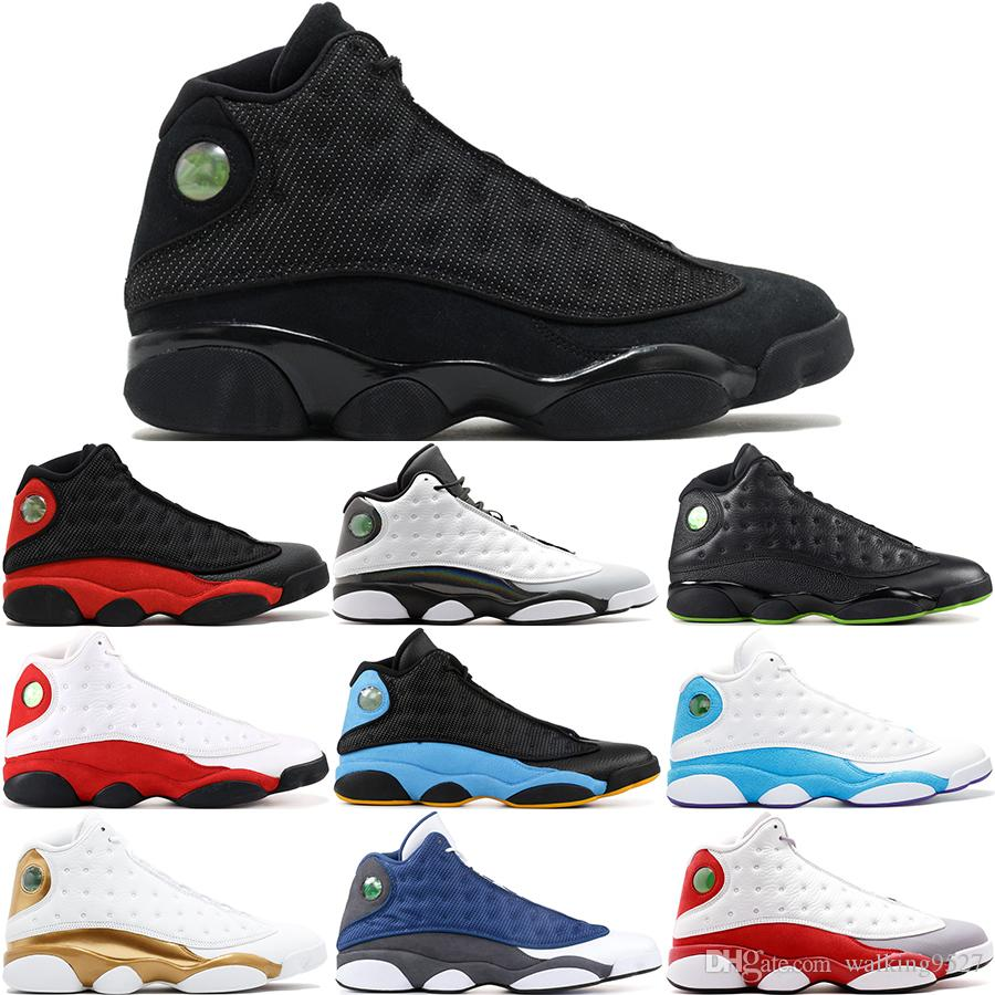 5bcd817de 2019 13 13s Men Basketball Shoes Olive Playoff Ray Allen Wheat UNC Infrared  23 Hyper Royal Bred History Of Flight Sports Sneakers 8 13 From  Walking9527