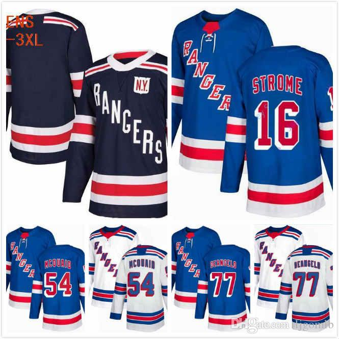 2019 Custom NY Rangers Brett Howden Jersey 21 Tony DeAngelo 77 Fredrik  Claesson 33 Adam McQuaid 54 Ryan Strome 16 Stitched S 3XL From Ljgomlb afd9cdfa7