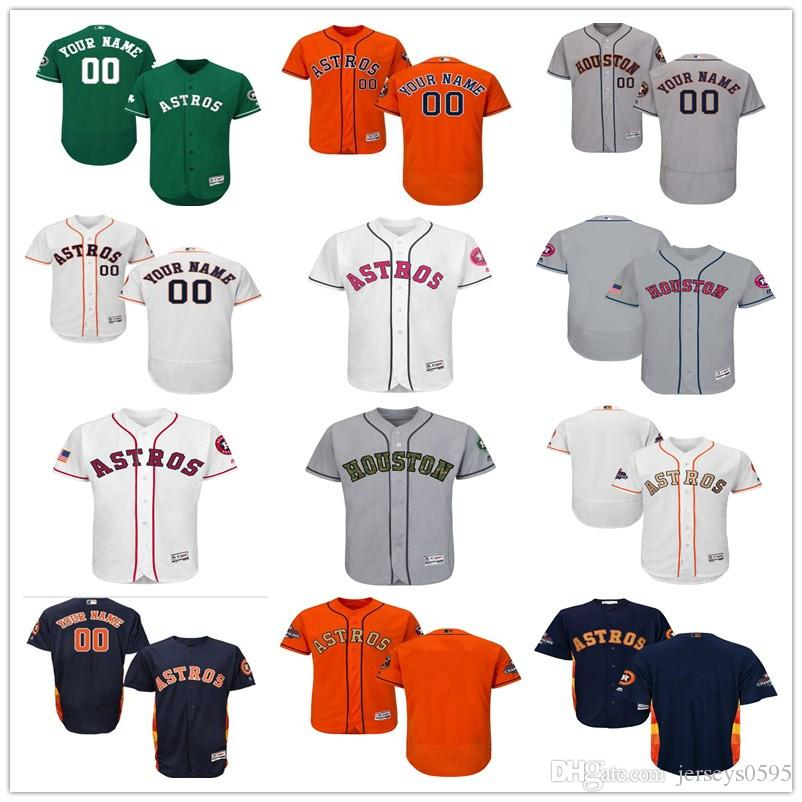 super popular 5b4ab 2ccba 2018 custom Men's women youth Houston Astros Jersey Any Your name and your  number Home Blue Grey White Kids Girls Baseball Jerseys