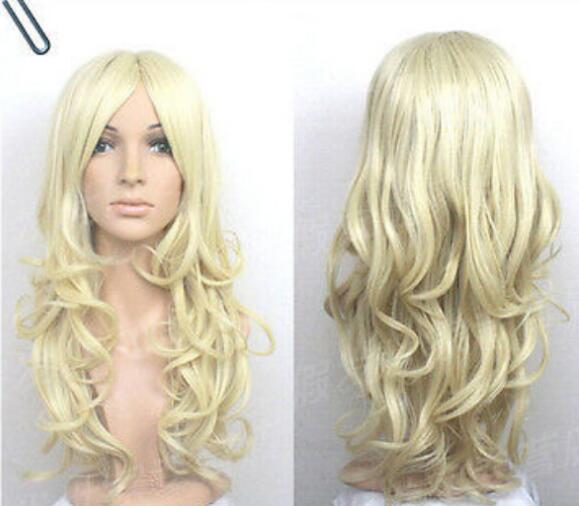 Cos Lay New Long Pale Blonde Curly Wig Full Lace Synthetic Wigs With Baby  Hair Long Blonde Wig From Dingyingying7789 019b59413