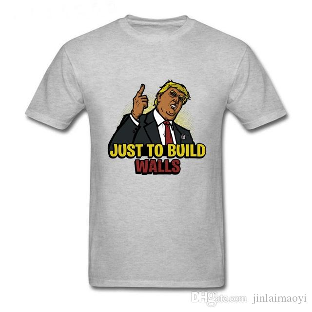 dbe0ad683547 Just To Build The Walls T Shirts Victory Royale Tshirt Funny President Trump  Tees Battle Royale T Shirt Summer Men Basic Clothing Cool Team Shirts Crazy  ...