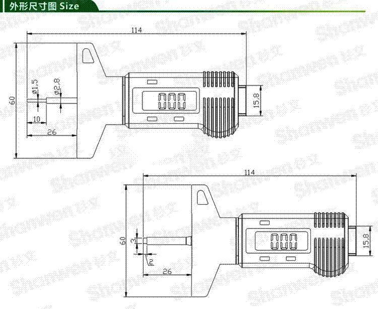 Coche 0-25.4mm Digital Neum/ático del neum/ático Profundidad de la banda de rodadura Probador Medidor Medidor Medidor Herramienta Calibrador Pantalla LCD Tpms Sistema de monitoreo de neum/áticos
