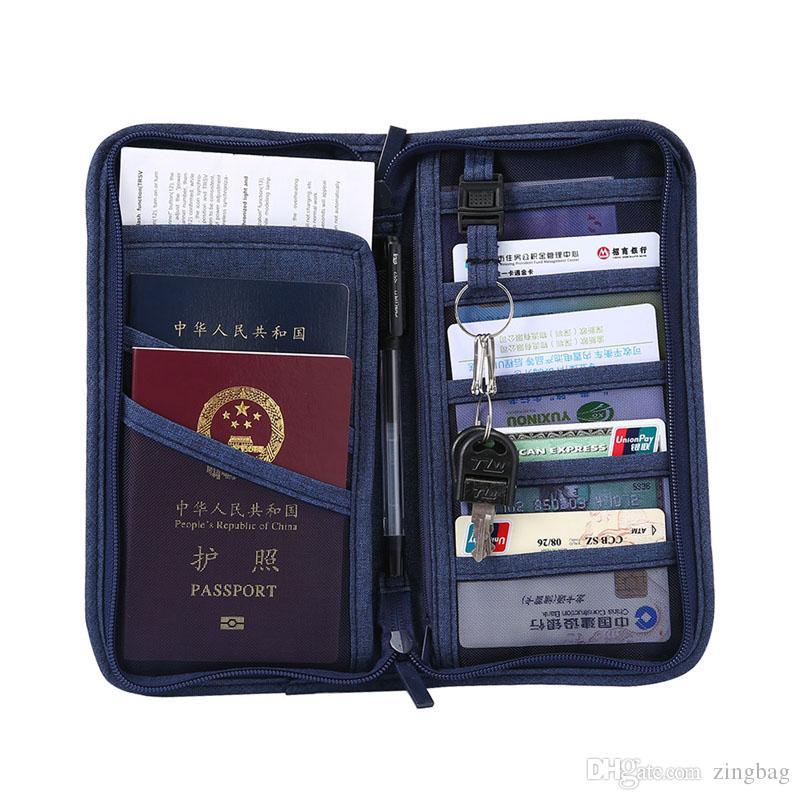 f8f0c17b6bd0 Travel Passport Credit Card ID Card Holder Wallet Purse Unisex Documents  Case Organizer Bag Outdoor Travel Card Holders