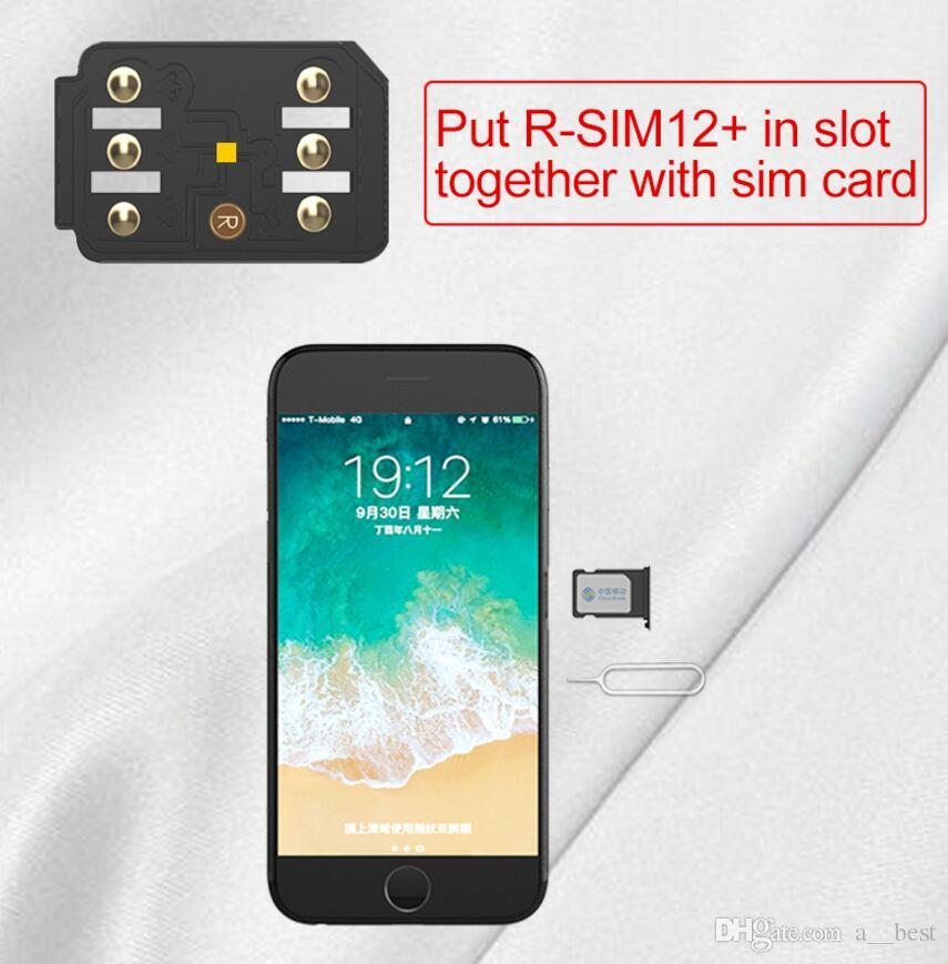R sim 12+ unlock for ios 12.3 rsim12+ rsim sim12 ios 12 ICCID Unlocking for iPhoneX,iphone 8,8PLUS 7,7plus 6s 6 GPLTE 4g+ pro3