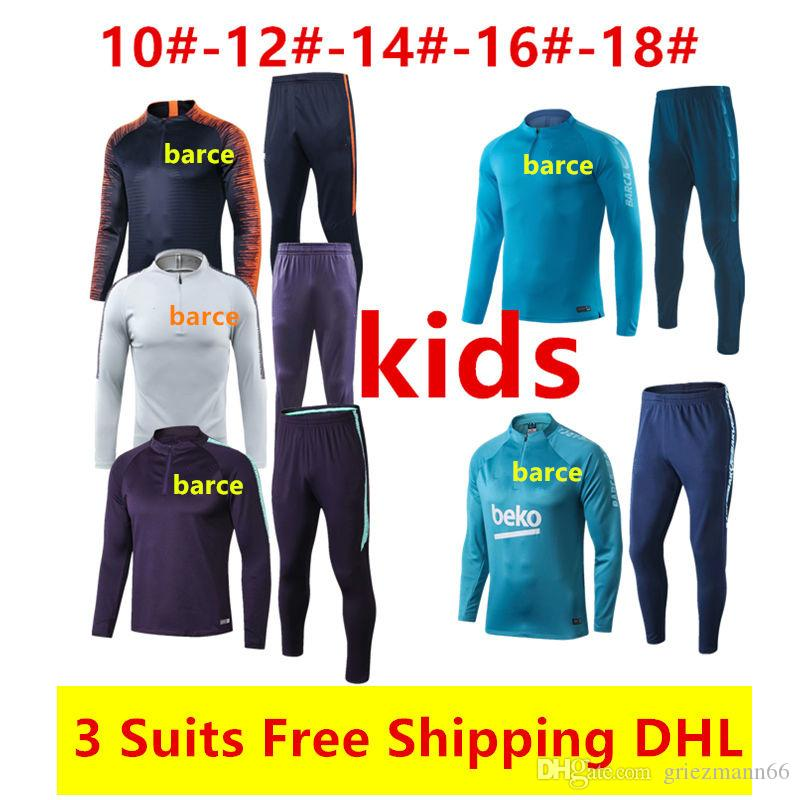 0bb34754b21 Wholesale And Retail New 19 20 Barcelona Kids Tracksuits Suarez 2018 ...