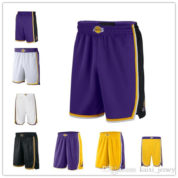 86b079781 2019 Men S L.A. New Lakers Jersey 2018 19 Statement Edition Swingman  Basketball Shorts From Taishan01