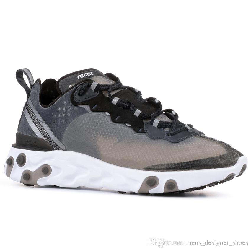 Undercpver X Upcoming React Element 87 Herren Laufschuhe Light Bone Signal Blau Solar Rot Trainer Damen Sport Designer Sneakers 5.5 11
