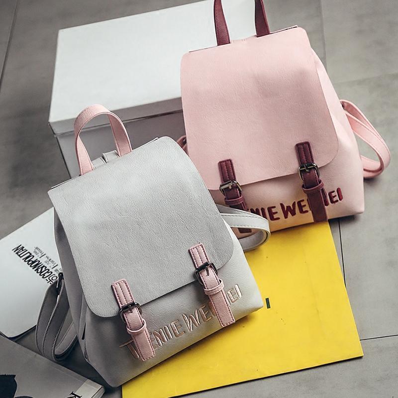 cea04ca50e Wholesale LEFTSIDE Brand Nice New Small Simple Stylish Solid Rucksack Back  Packs Women Backpacks Famous Designer School Bag For Girls Herschel  Backpacks ...