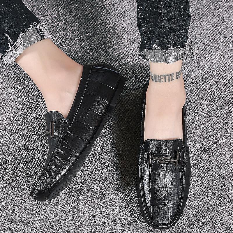 2845f69570 2019 nuove scarpe casual moda per gli uomini di lusso leggero in pelle  genuina appartamenti scarpe comode primavera all'aperto