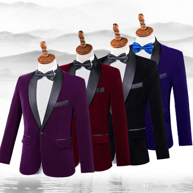 2019 Winter Men S Velvet Suits Slim Blazers Chorus Stage Outfits Singer Host  Performance Clothing Photo Studio Suit Costumes Master Suit From Zhgyong 721abb3d0920