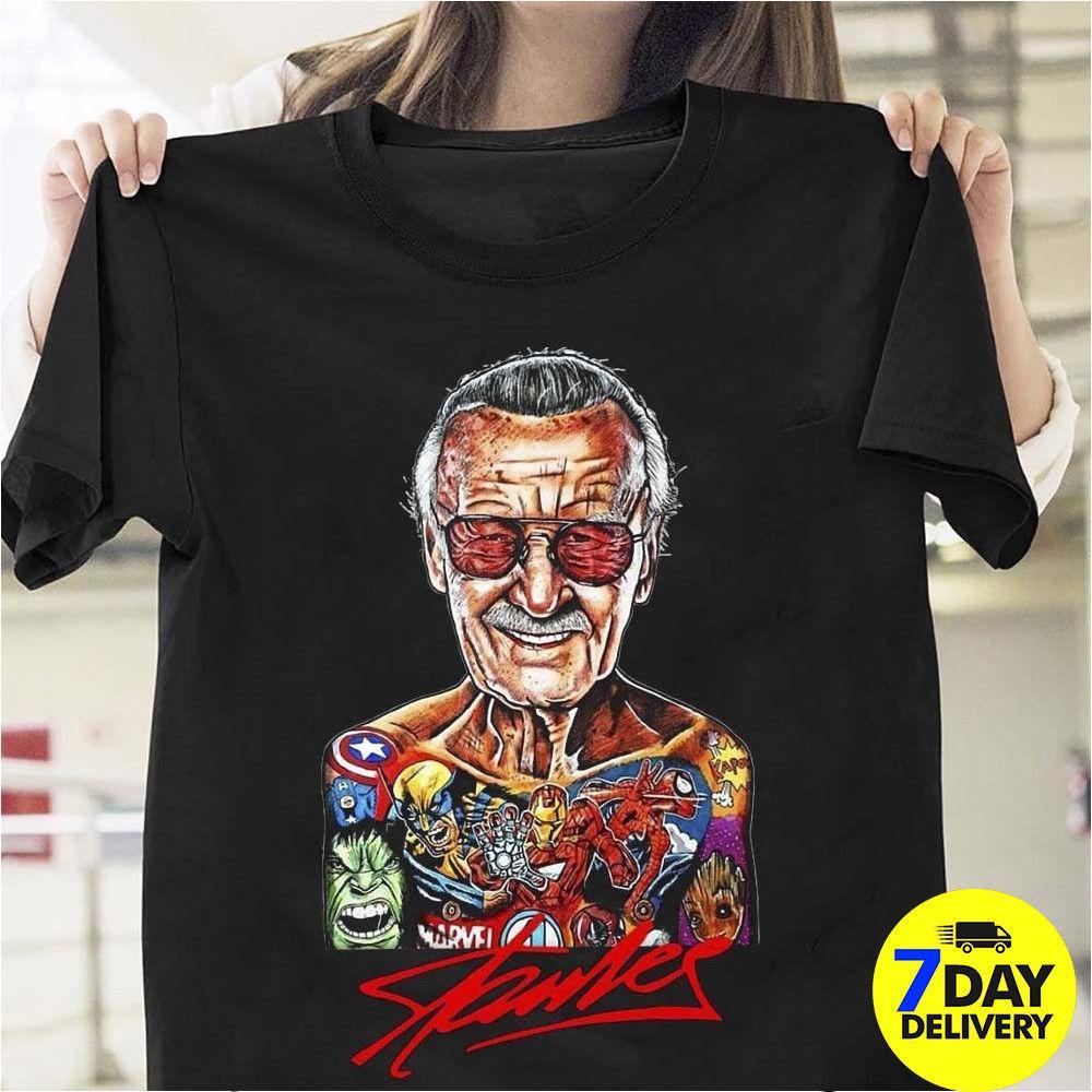 f429cb6730 Compre Excelsior Stan Lee Pai De Heróis Camiseta Stan Lee Marvel Rip Legend  De Joyfulandhappy57