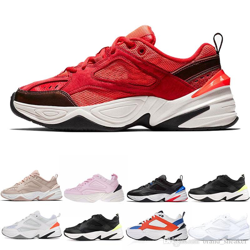 cf751504c23 Cheap M2K Tekno Men Women Running Shoes Designer Breathable Trainers Red  Suede Mens Sports Shoes Black White Athletic Fitness Sneaker Dad Shoe