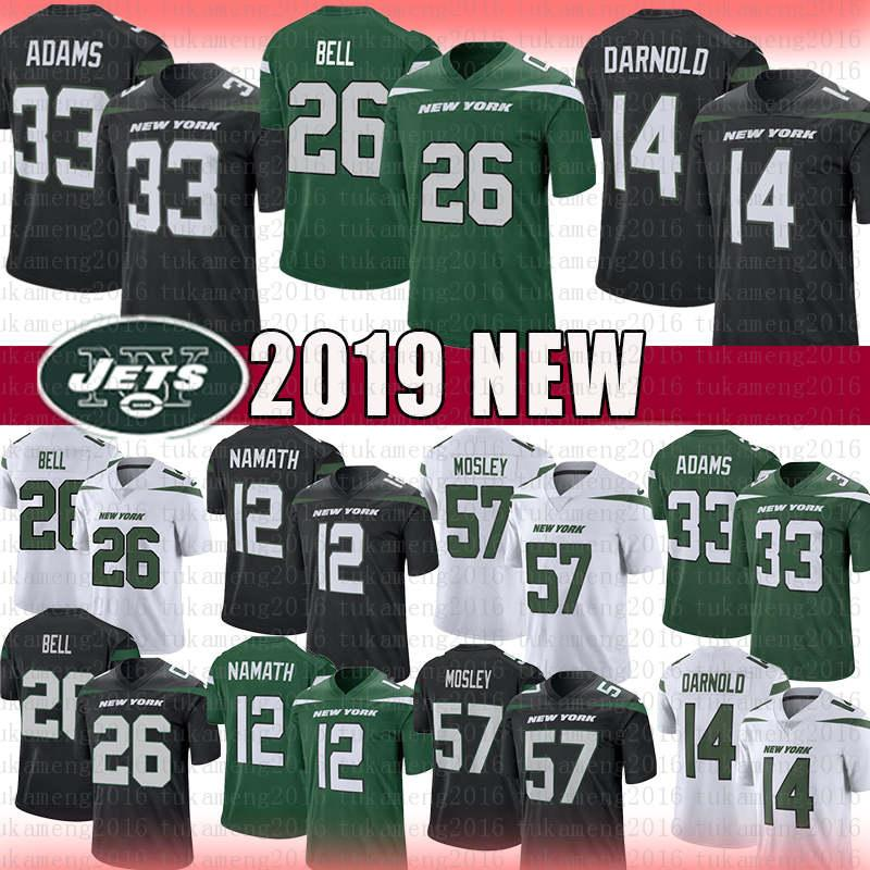 Hot 2019 2019 New York 26 Le'Veon Bell 14 Sam Darnold Jets Jersey 33  for sale