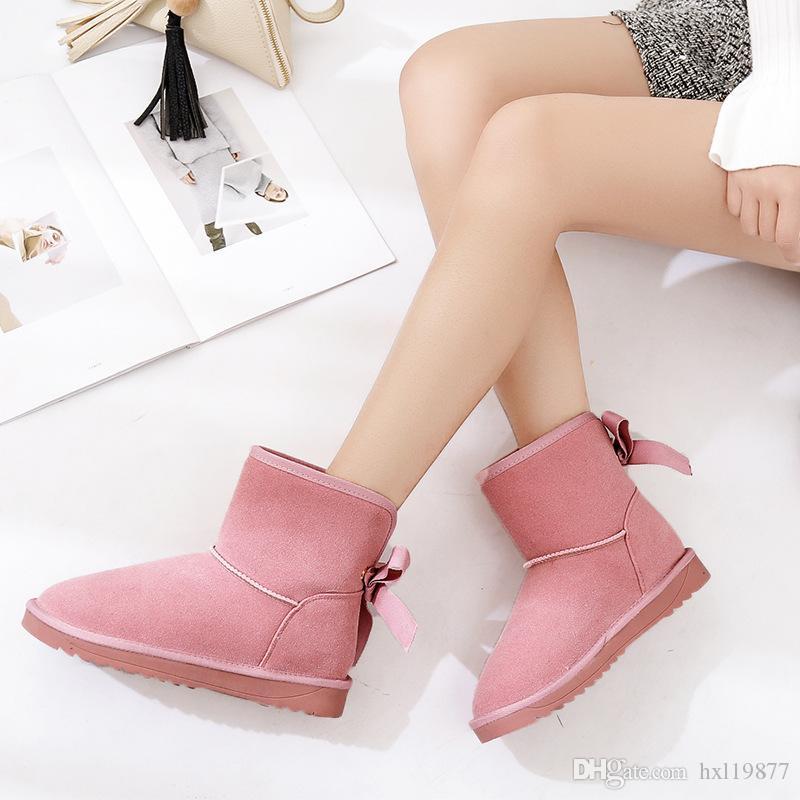 0126711b878 Women Snow Boots Waterproof Genuine Leather Winter Shoes Australian ...
