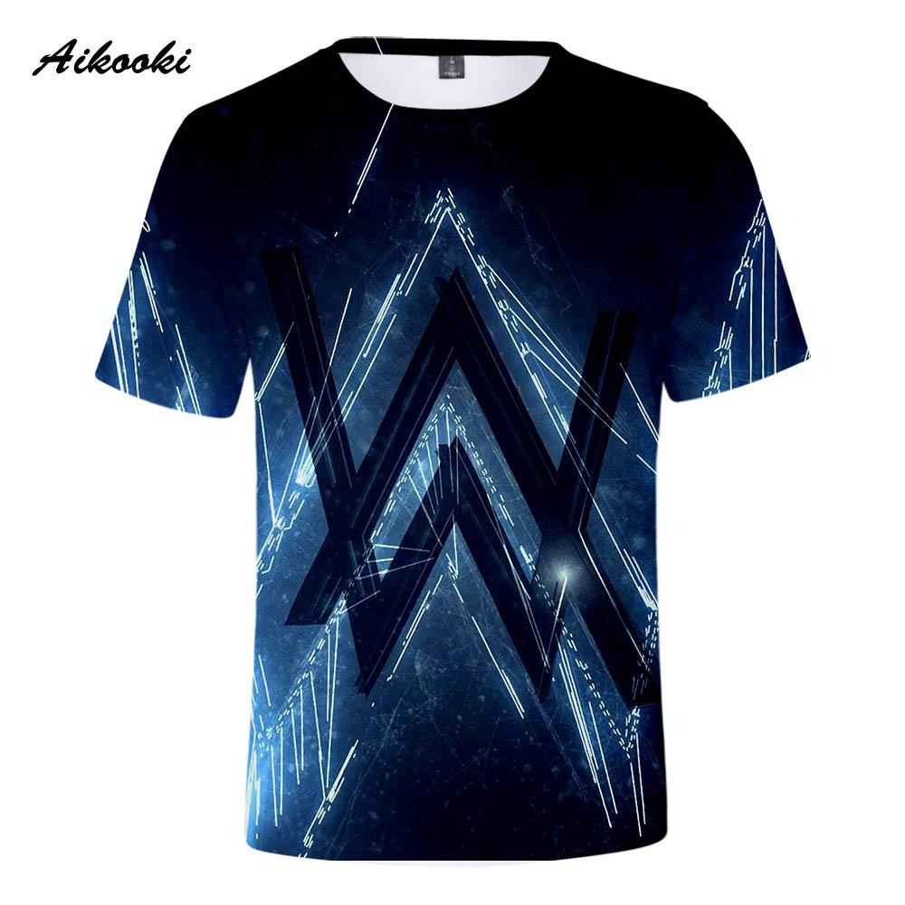427fd901d Aikooki Alan Walker T Shirts Men/Women Fashion Street Wear Tee Shirt  Boy/Girl Short Sleeve Alan Walker T Shirts Logo Full Print Cool Shirt  Designs T Shirt ...