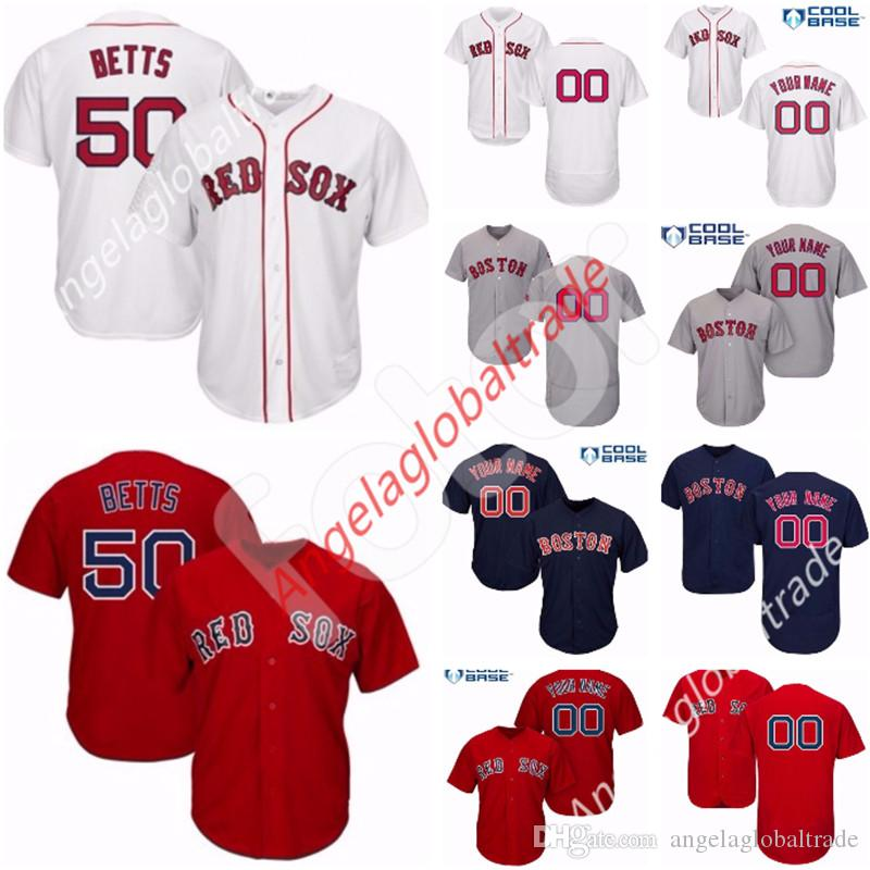 2019 Custom Men S Boston Red Sox Jersey Bogaerts Pedroia Andrew Benintendi  David Price Ortiz Mookie Betts Jackie Bradley Jr. J.D. Martinez Boggs From  ... a9719d6277c