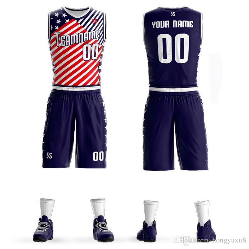 hot sale online e206c 20dfb Mens Kids Basketball Jerseys Sets Team Uniforms Child Sport Kit Clothes  Jersey Youth Basketball Shirts Shorts Print Customized