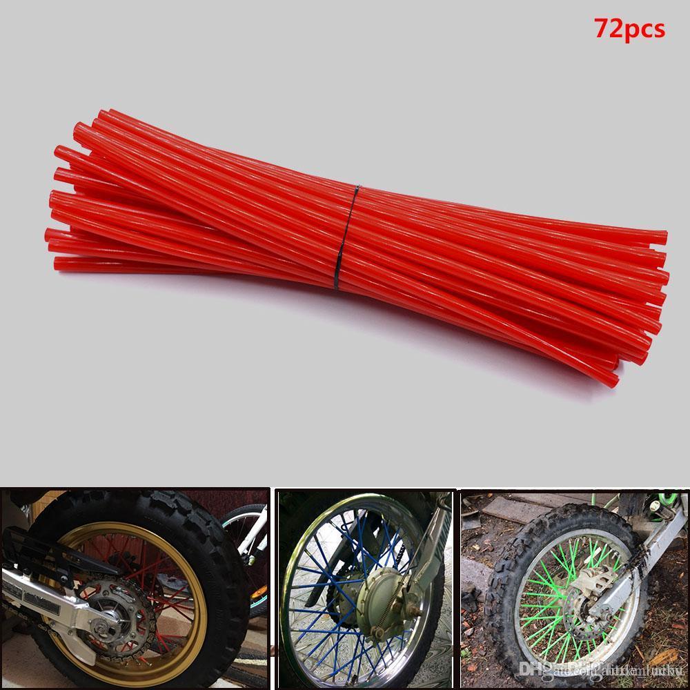 For Orange spoke wrap kit wraps skins Tapas custom rim wheel for suzukidirt  bikes MX motocross enduro and supermoto