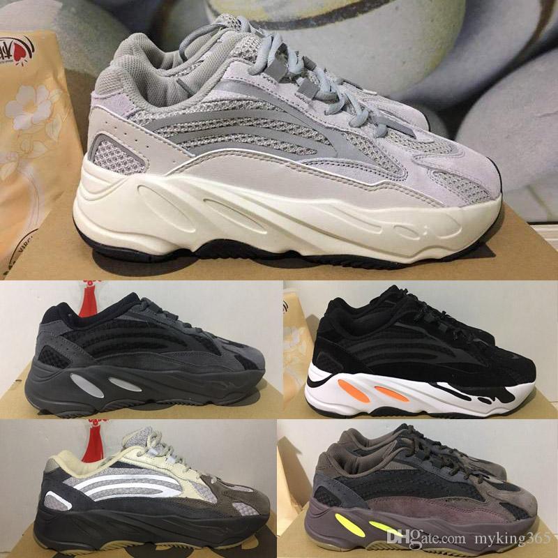 super popular 28a45 d4859 Kanye West 700 v2 static Grey 3m Reflective Retro Running Shoes 700V2 Mauve  Solid Yeezy Grey Boost Designer Shoes