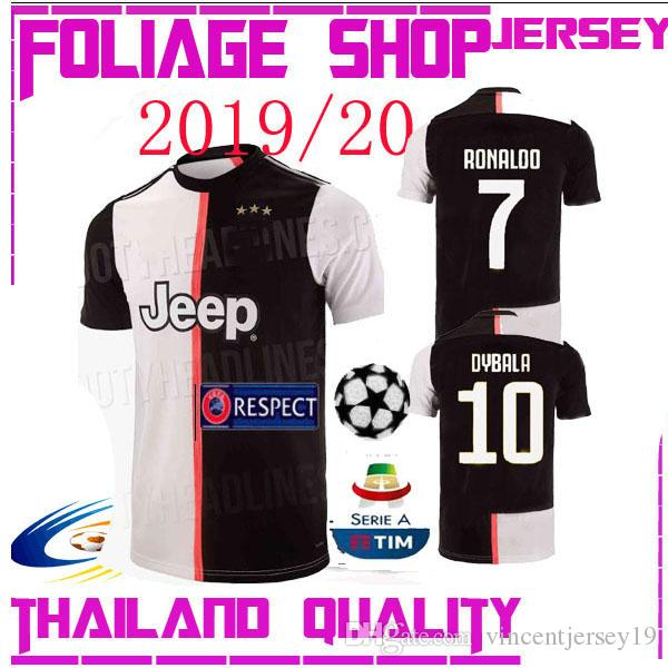 af2b59997 2019 Thailand RONALDO Juventus 2019 Champions League Soccer Jerseys DYBALA  18 19 20 Sports Football Kit Shirt MEN WOMEN KIDS Sets JUVEn From  Vincentjersey19 ...