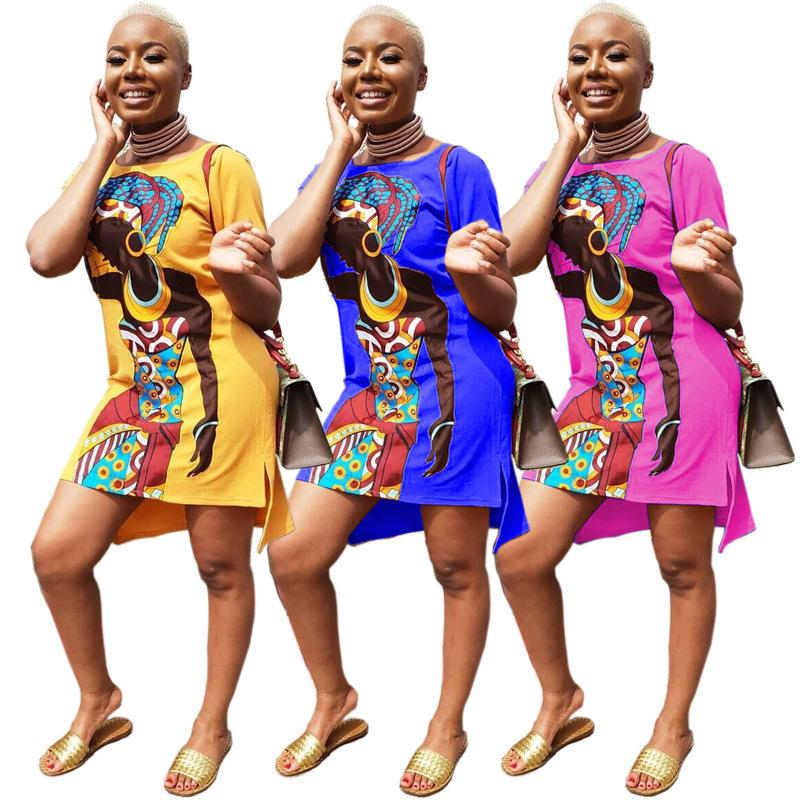 194d6fe9b13 2019 summer European and American new women's clothing CY8103 fashion  explosion models African girl printed casual dress