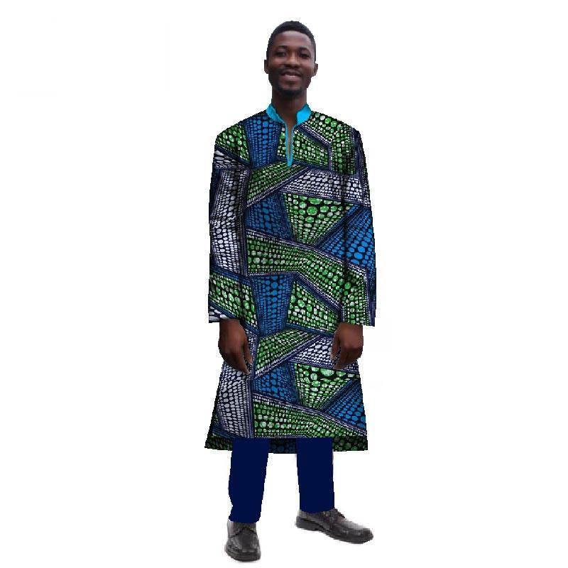 Großhandel Afrikanische Männer Langarm Herren Roben Langes Hemd Top  Traditionelle Afrikanische Kleidung Dashiki Männer Kleidung Plus Größe 6XL  WYN241 Von ... 44272918d0