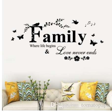 3d wall stickers Family Removable Art Vinyl Mural Home living room Decor  self-adhesive Wall Stickers wallpaper Fashion