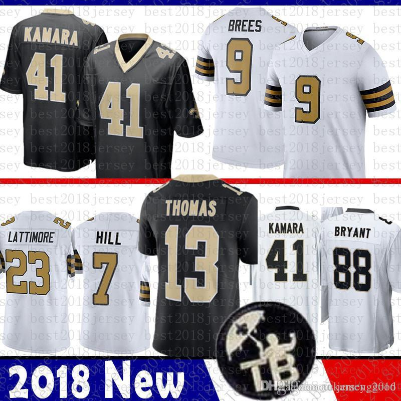 2019 MEN New Orleans 9 Drew Brees Saints Jersey 41 Alvin Kamara 13 Michael  Thomas 23 Marshon Lattimore 7 Taysom Hill 88 Bryant From Tukameng2016 9be7ce761