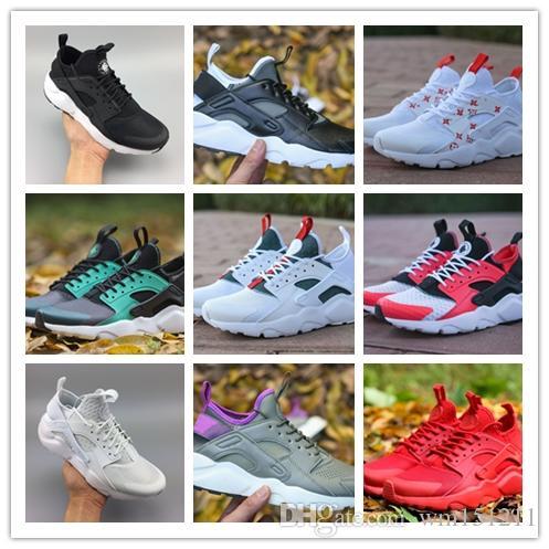 160870ec1d438 2018 Off New Huarache Ultra Run 4 IV Running Shoes For Men Women ...