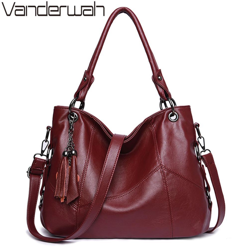 c413e73fc71a Women Genuine Leather Handbags Women Messenger Bag Designer Crossbody Bags  For 2018 Bolsa Feminina Tote Shoulder Bags Sac Large Handbags Black Leather  ...