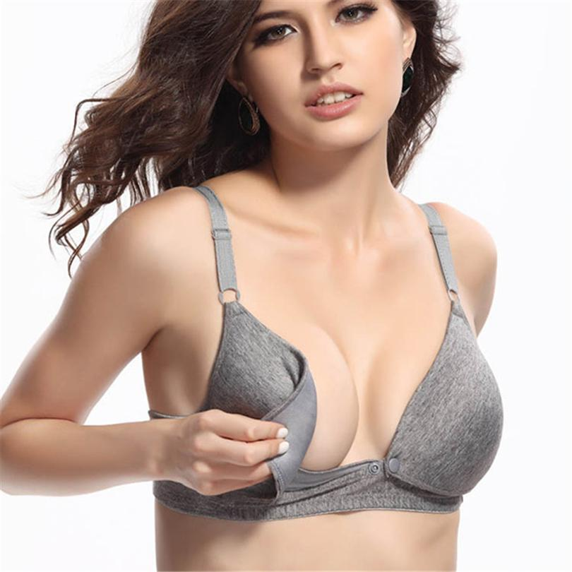 ecb047692e2 2019 Maternity Nursing Bras Pregnant Women Lingerie Breastfeeding Hot No  Rims Front Closure Breast Feeding Bras 1 2 Cup Brassiere From Gaozang