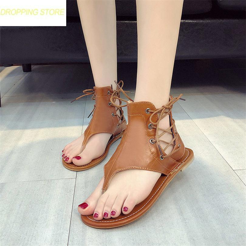 d7a101d581f7 New Women Low Heel Gladiator Sandals Side Lace Up Thong Party Oxfords Shoes  Punk Summer Platform Fashion Sandals Black Wedges Platform Shoes From  Facebooks