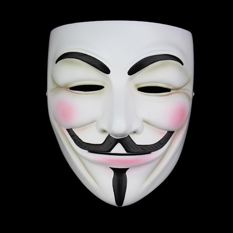 High Quality V For Vendetta Resin Collect Home Decor Party Cosplay Lenses Anonymous Mask Guy Fawkes Q190524