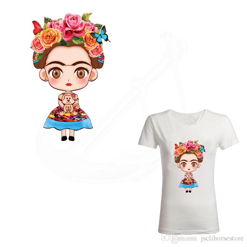 a1d753b27e Hot Frida Kahlo Patch for clothing 25.5*16cm iron on patches Diy T-shirt  Dresses thermal transfer sticker