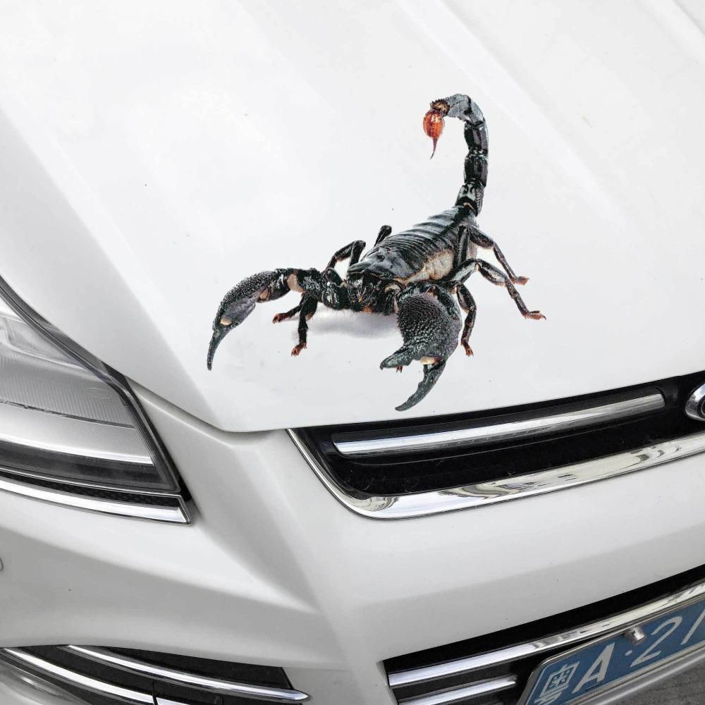 2019 1816cm spider 3d car sticker scorpion mirror side decal 3d chameleon pattern vinyl truck vehicle body accessories auto stickers from louyu