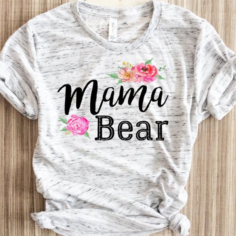 ce772715dc70b Mama Bear Shirts 90s Womens Clothing Gothic Tops Punk Tshirt Harajuku Tee  Girls Print Aesthetic Tees Summer Funny T White Top It T Shirt Design  Clever Tee ...