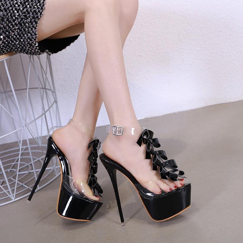 6f22f7cf35e Fashion Summer Women High Heels Sandals Sexy Stripper heels Shoes Party  Pumps Shoes Women Gladiator Sandals small size 34 YMA787